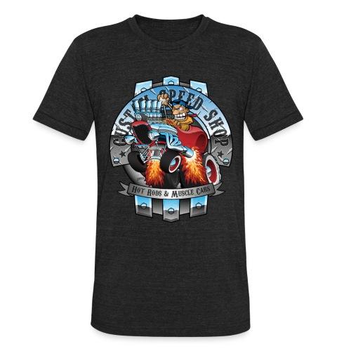 Custom Speed Shop Hot Rods and Muscle Cars Illustr - Unisex Tri-Blend T-Shirt