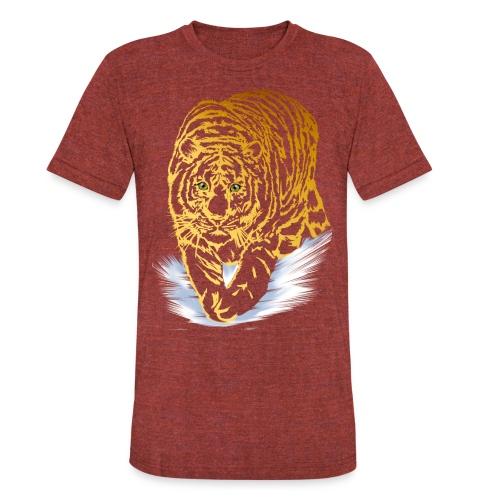 Golden Snow Tiger - Unisex Tri-Blend T-Shirt