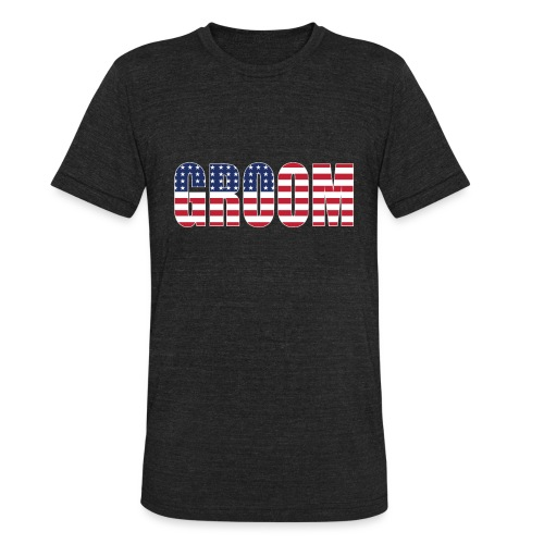 Groom US Flag - Unisex Tri-Blend T-Shirt