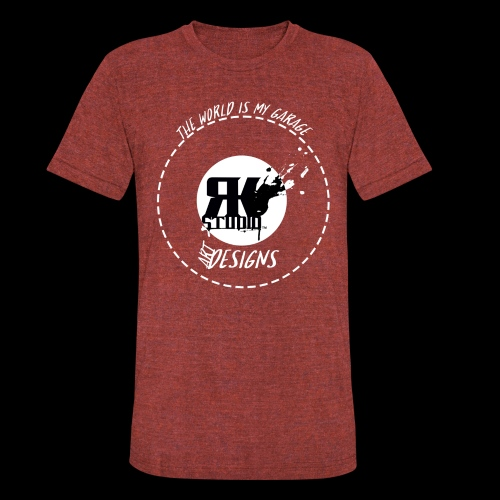 The World is My Garage - Unisex Tri-Blend T-Shirt
