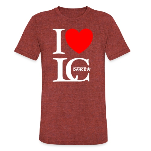I Heart LCDance - Unisex Tri-Blend T-Shirt
