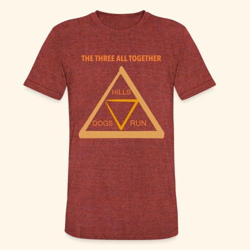 Run4Dogs Triangle - Unisex Tri-Blend T-Shirt