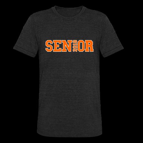 Orange Senior White Outline - Unisex Tri-Blend T-Shirt