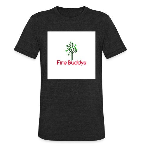 Fire Buddys Website Logo White Tee-shirt eco - Unisex Tri-Blend T-Shirt