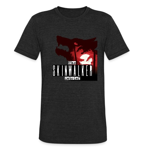 Skinwalker Debrief Wolf - Unisex Tri-Blend T-Shirt