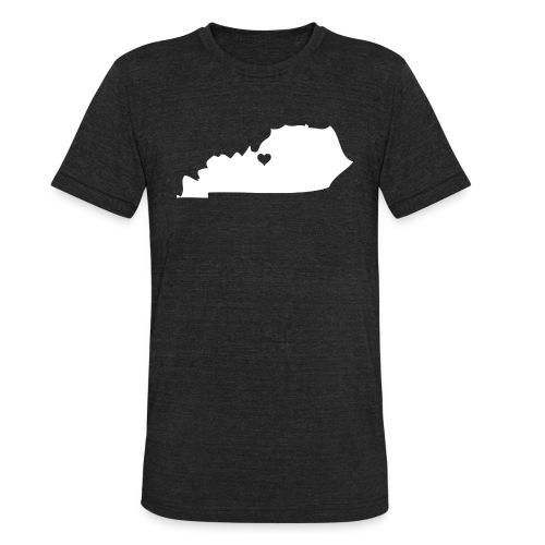 Kentucky Silhouette Heart - Unisex Tri-Blend T-Shirt