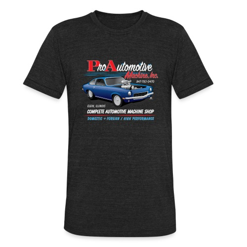 ProAutoTeeDesign062317fin - Unisex Tri-Blend T-Shirt