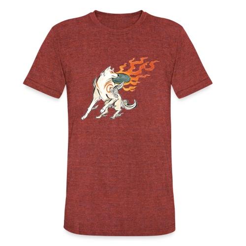Fire wolf - Unisex Tri-Blend T-Shirt