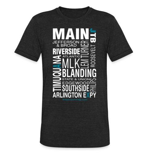 Jacksonville Streets - Unisex Tri-Blend T-Shirt