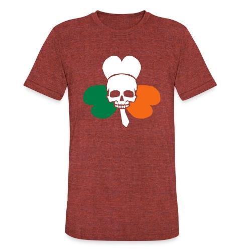 irish_skull_shamrock - Unisex Tri-Blend T-Shirt