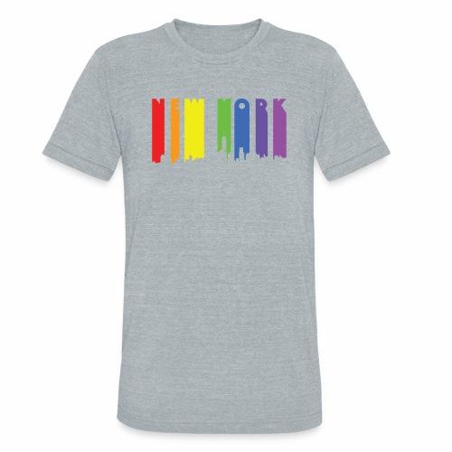 New York design Rainbow - Unisex Tri-Blend T-Shirt