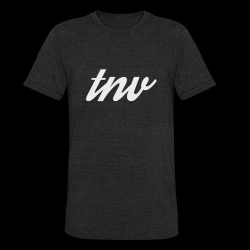 TNV WHITE DESIGN CLSSC png - Unisex Tri-Blend T-Shirt