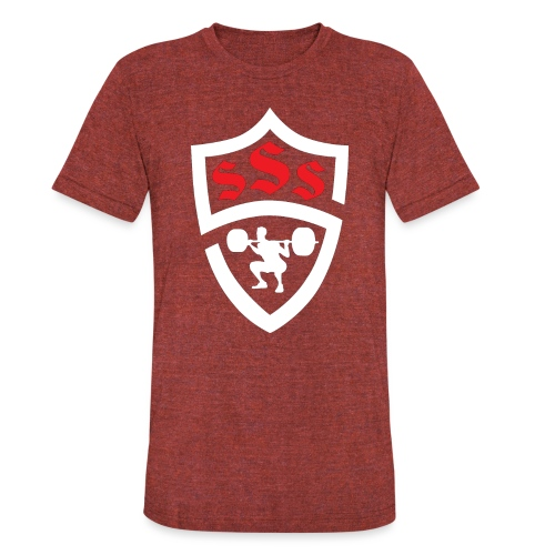 Logo Only White and Red - Unisex Tri-Blend T-Shirt