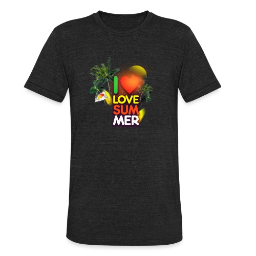 I love summer - Unisex Tri-Blend T-Shirt
