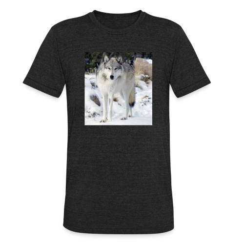 Canis lupus occidentalis - Unisex Tri-Blend T-Shirt