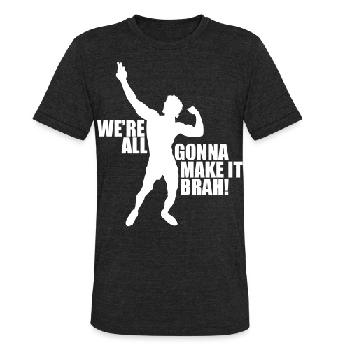 Zyzz Silhouette we're all gonna make it - Unisex Tri-Blend T-Shirt