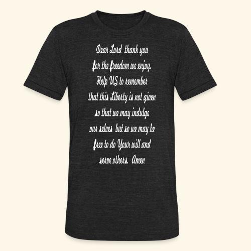 prayer_for_freedom - Unisex Tri-Blend T-Shirt