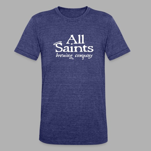 All Saints Logo White - Unisex Tri-Blend T-Shirt