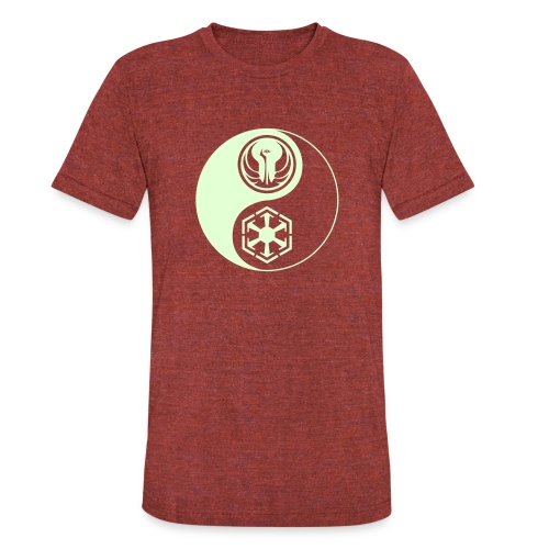 Star Wars SWTOR Yin Yang 1-Color Light - Unisex Tri-Blend T-Shirt