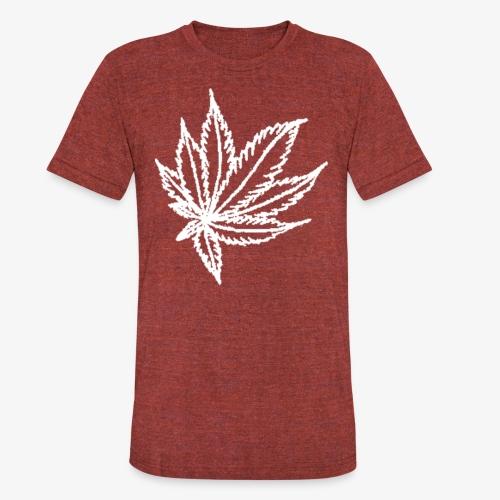 white leaf - Unisex Tri-Blend T-Shirt
