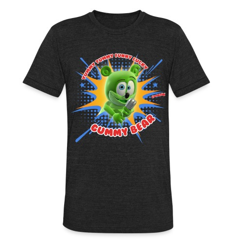 Funny Lucky Gummy Bear - Unisex Tri-Blend T-Shirt