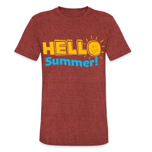 Kreative In Kinder Hello Summer! - Unisex Tri-Blend T-Shirt