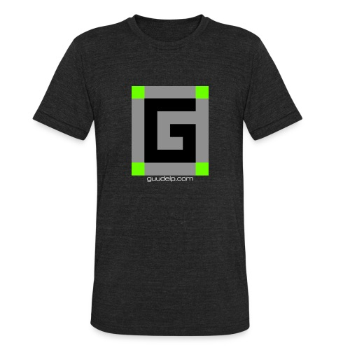 Guude Logo with White Text - Unisex Tri-Blend T-Shirt