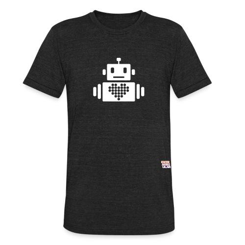 robot heart logo Converted png - Unisex Tri-Blend T-Shirt