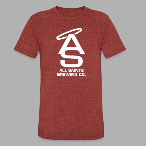 AS Logo white - Unisex Tri-Blend T-Shirt