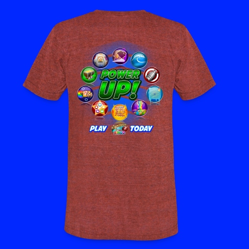Vintage Cannonball Bingo Power-Up Tee - Unisex Tri-Blend T-Shirt