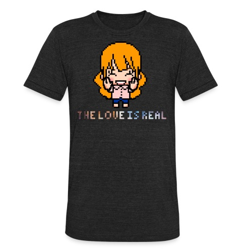 theloveisreal png - Unisex Tri-Blend T-Shirt