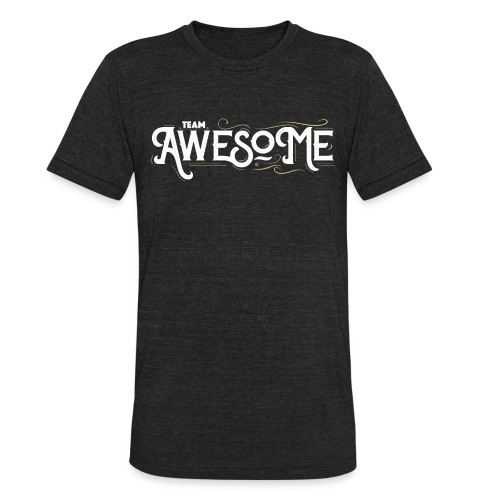 Team Awesome white - Unisex Tri-Blend T-Shirt