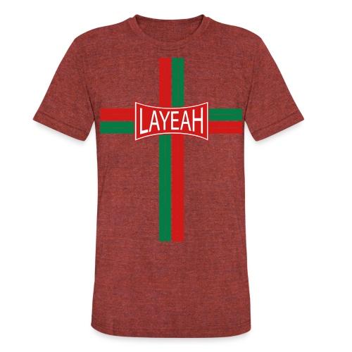 Portugy Cross Three - Unisex Tri-Blend T-Shirt