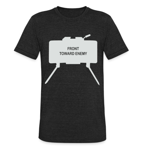 Claymore Mine (Minimalist/Light) - Unisex Tri-Blend T-Shirt