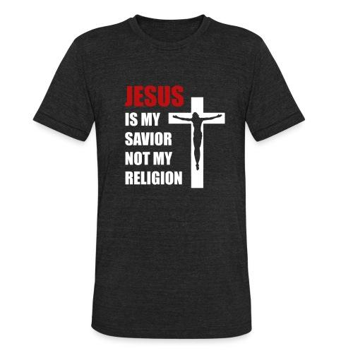 Jesus is my Savior Tee for men - Unisex Tri-Blend T-Shirt