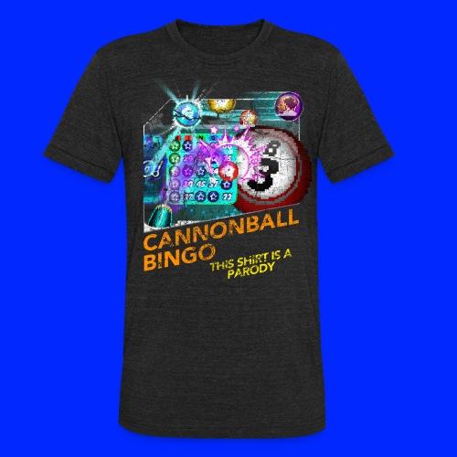 Vintage Cannonball Bingo Box Art Tee - Unisex Tri-Blend T-Shirt