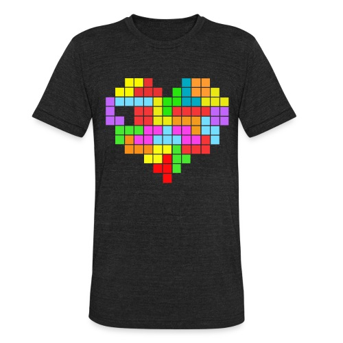 tetris heart - Unisex Tri-Blend T-Shirt