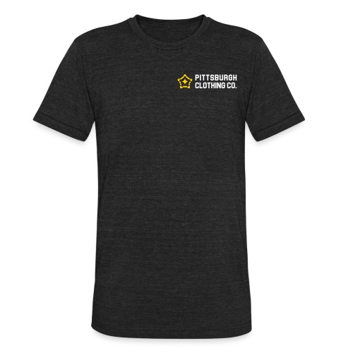 wordmark side - Unisex Tri-Blend T-Shirt
