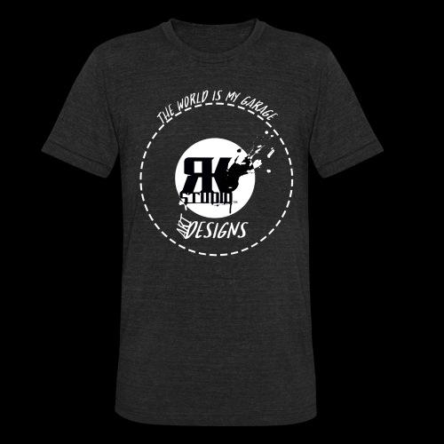 The World is My Garage - Unisex Tri-Blend T-Shirt