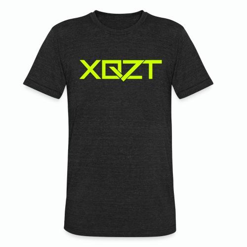 #XQZT Logo Lime Light - Unisex Tri-Blend T-Shirt