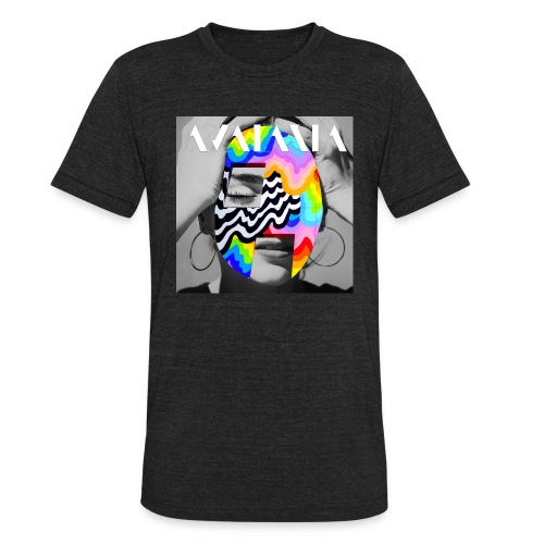 avataria head over heels with logo - Unisex Tri-Blend T-Shirt