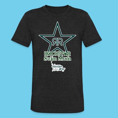Rockstar Swim Mom - Unisex Tri-Blend T-Shirt