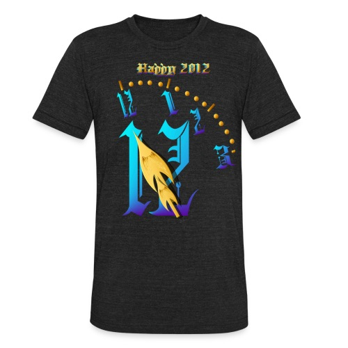 Happy 2012-Clock Striking 12:NM - Unisex Tri-Blend T-Shirt