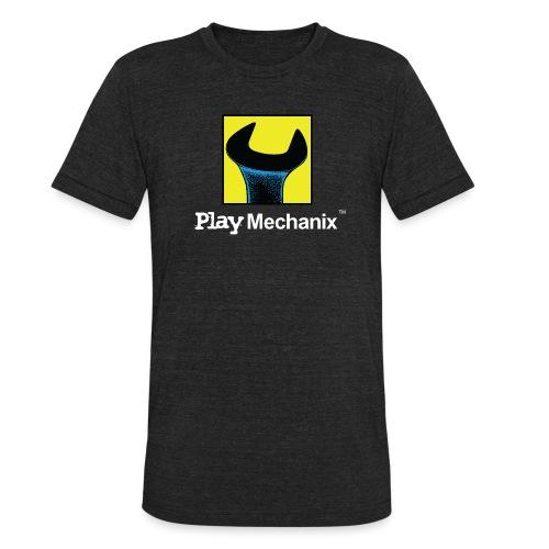 Play Mechanix Logo_ WHT - Unisex Tri-Blend T-Shirt