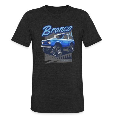 BRONCO BLUE CLASSIC TRUCK - Unisex Tri-Blend T-Shirt