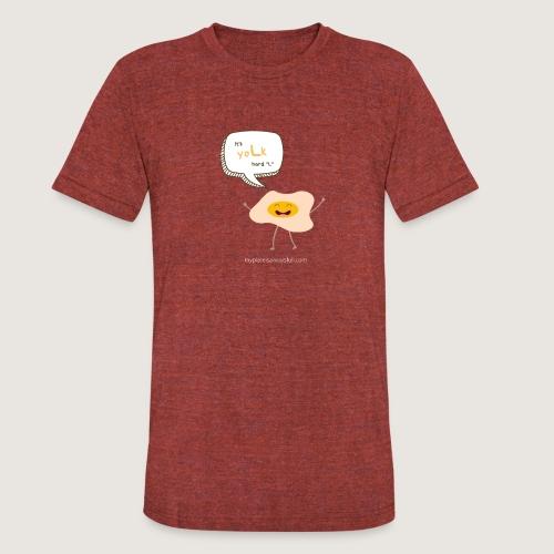 yoLk hard L - Unisex Tri-Blend T-Shirt