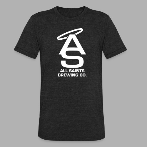 AS Logo white - Unisex Tri-Blend T-Shirt