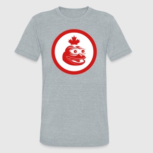 Canadian Pepe the Frog Flag - Unisex Tri-Blend T-Shirt by American Apparel