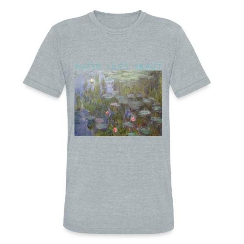 Water Lilies Monet tee - Unisex Tri-Blend T-Shirt
