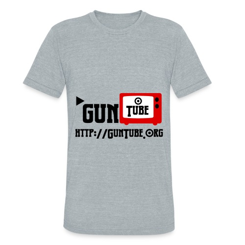 GunTube Shirt with URL - Unisex Tri-Blend T-Shirt